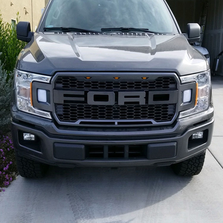Picture of SHOW FRONT GRILLE WITH LED-Ford F150